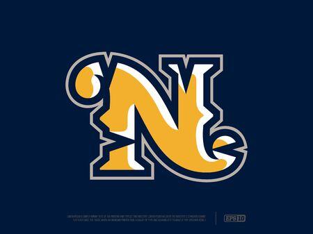 Modern professional letter emblem for sport teams.