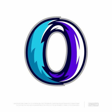 Modern professional letter emblem for sport teams. O letter.