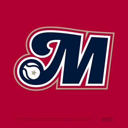 Modern professional letter emblem for sport teams. M letter. Ilustrace