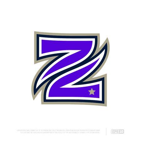 Modern professional letter emblem for sport teams. Z letter.