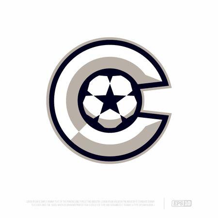 Modern professional letter emblem for sport teams. C letter. Ilustrace