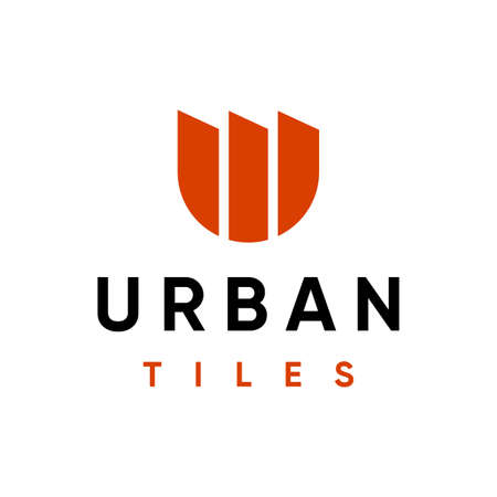Modern professional logo with the image of ceramic tiles, for the construction industry.