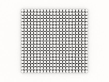 white occlusion bulb pattern on white background