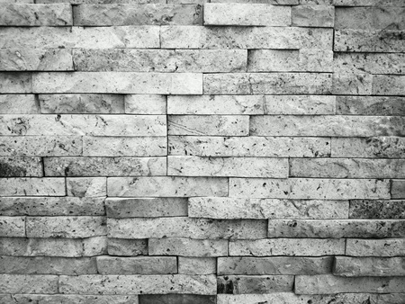 urban: Natural stone wall. Black and white.  Stock Photo