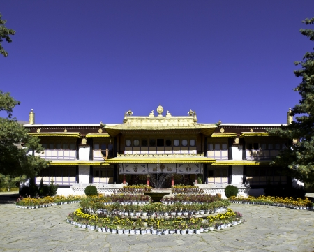 Norbulingka summer palace in Tibet photo