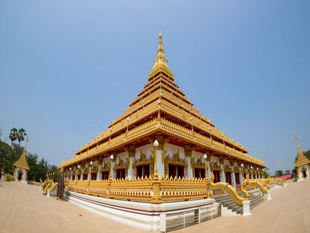 conjoin: Thai temple in Khonkaen province, Landmark of Thailand