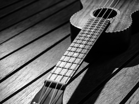 acoustic ukulele: Ukulele, acoustic guitar Hawaii style  Stock Photo