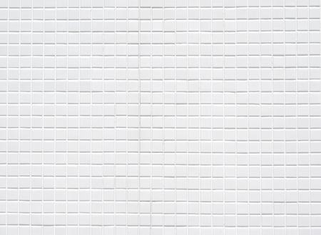 白いセラミック タイル壁、背景 写真素材