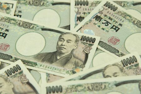 noted: closeup of Japanese yen bank noted.