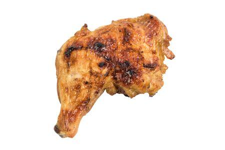 thighs: muslos de pollo parrilla aislado en blanco