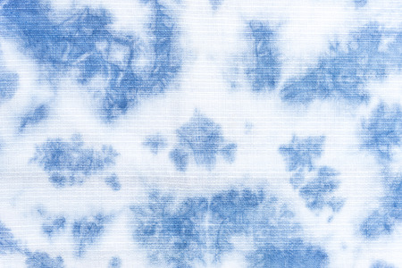 Abstract blue tie dye farbric texture background
