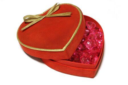 bottons: Heart shaped box