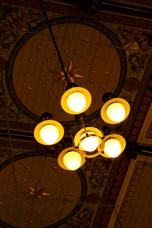 Hanging lamp on the ceiling photo