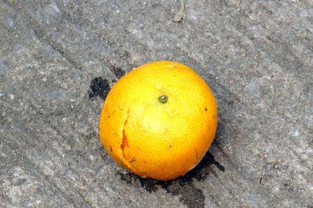 misadventure: Orange Accident Stock Photo