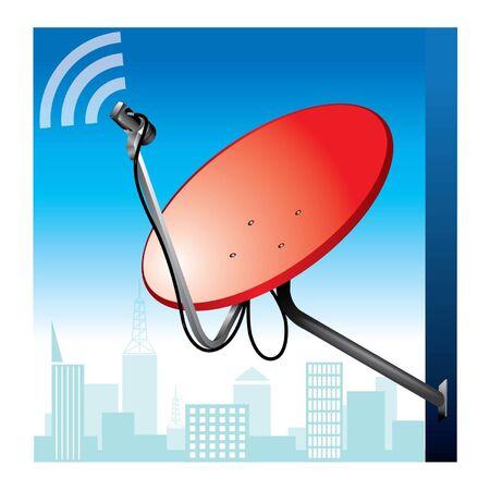 television aerial: Satellite dish Illustration