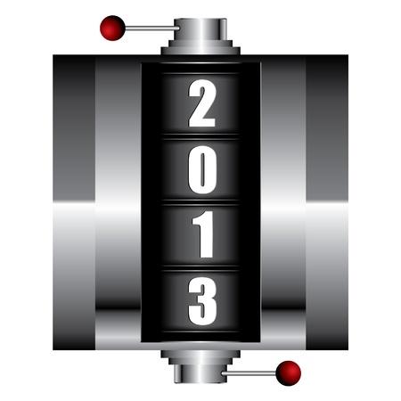 2013 Stock Vector - 12310351