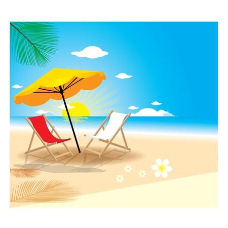 Summer Beach Illustration