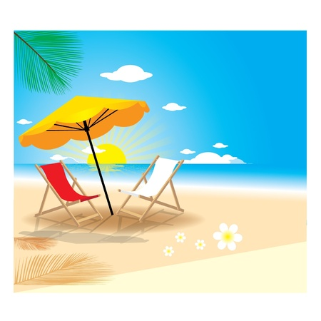 light reflex: Summer Beach Illustration