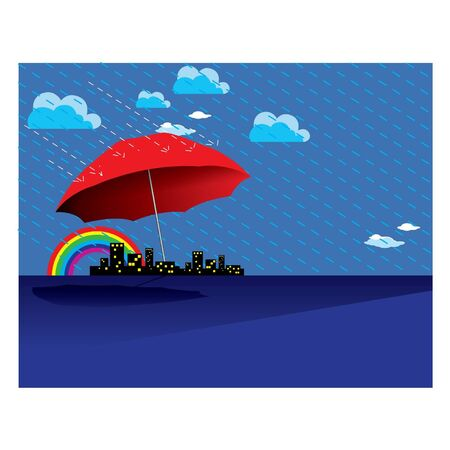 monsoon clouds: Rain Season Illustration