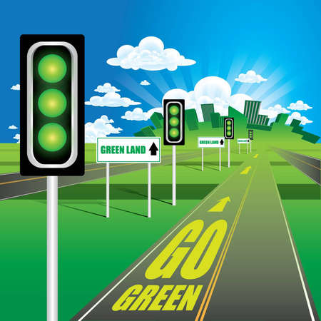 Go Green Stock Vector - 12783076