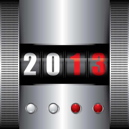2013 Machine Stock Vector - 12789375