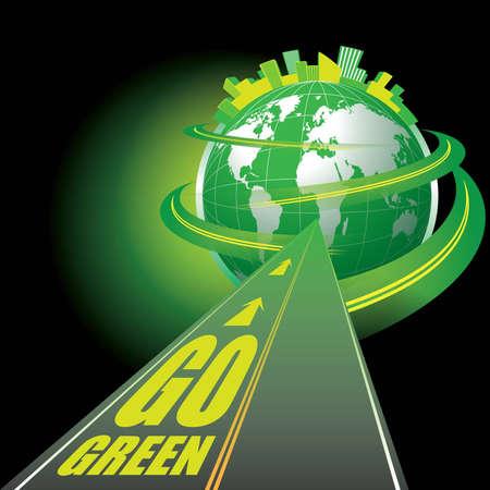 巡礼: 行くグリーン  イラスト・ベクター素材