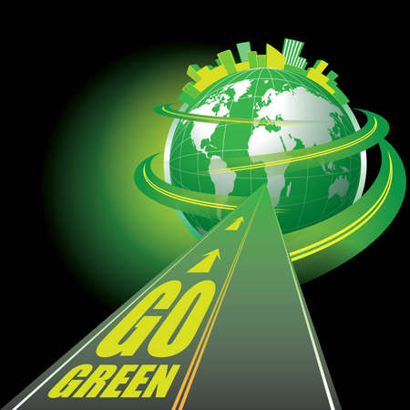 Go Green Stock Vector - 12789378