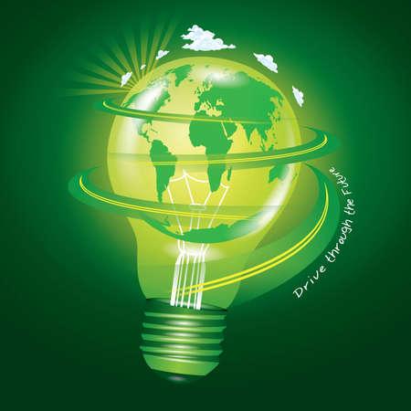 巡礼: アイデアの緑の世界  イラスト・ベクター素材