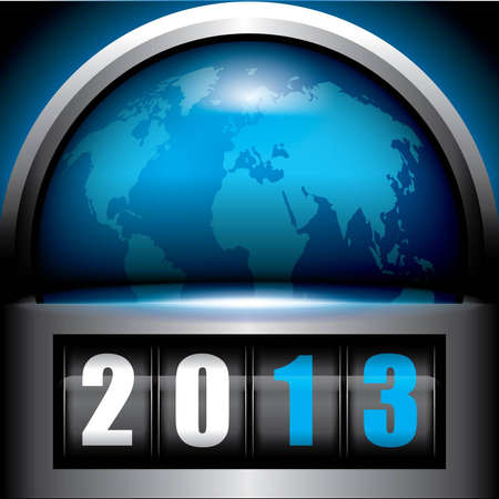 2013 Stock Vector - 12791050