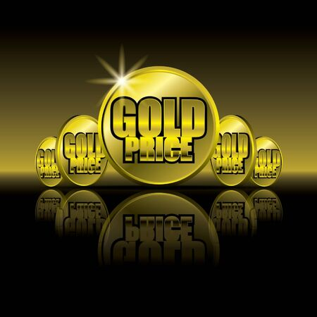 Gold Price Stock Vector - 12975630