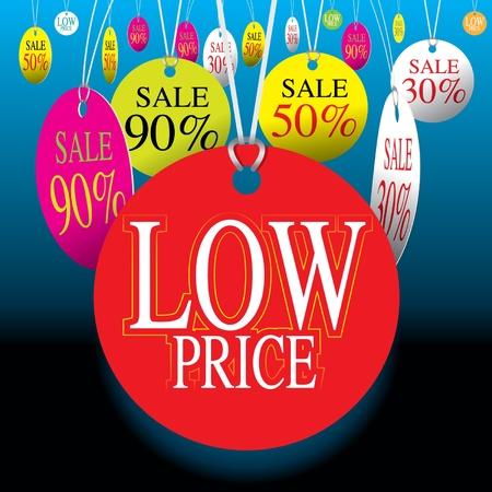 low price: Prezzo Basso Vettoriali