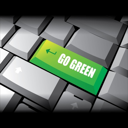 Go Green Stock Vector - 12975623
