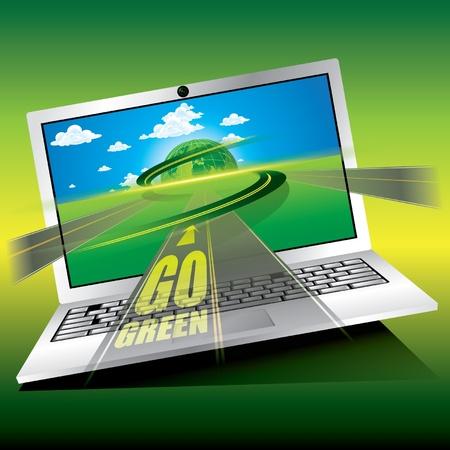 Go Green Stock Vector - 12976330