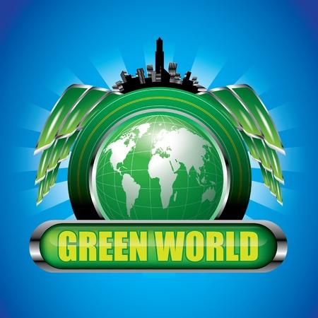 drive through: Green World Illustration