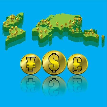 us coin: Dinero Vectores