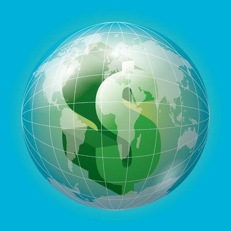 fund world: Money Illustration