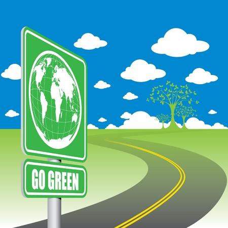 Go Green Stock Vector - 13448773