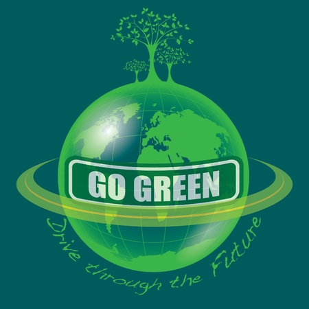 Go Green Stock Vector - 13448776