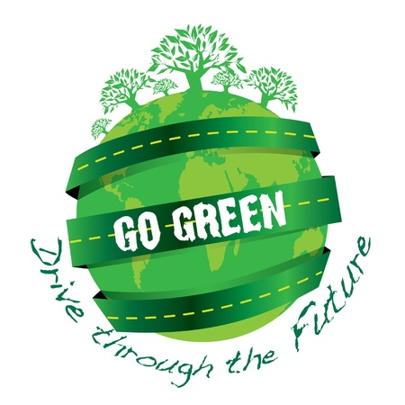 environmentally friendly: Go Green