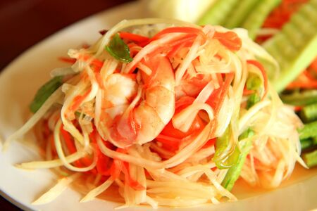 Green papaya salad Stock Photo - 13532009