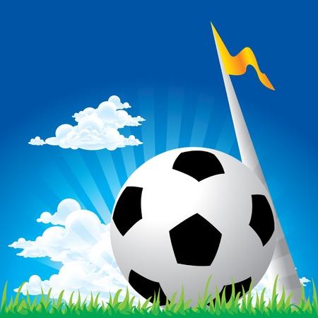 Soccer football corner kick Vector