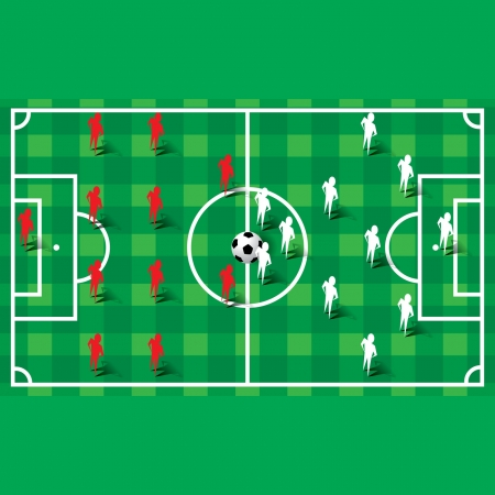 Soccer football formation Vector