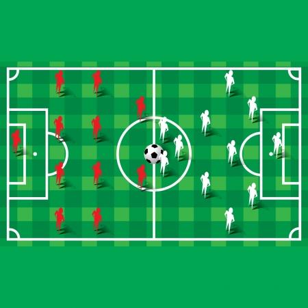 formations: Voetbal voetbal vorming