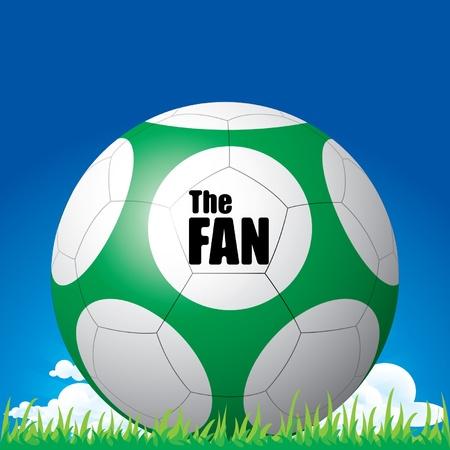Soccer football the fan Stock Vector - 14017911