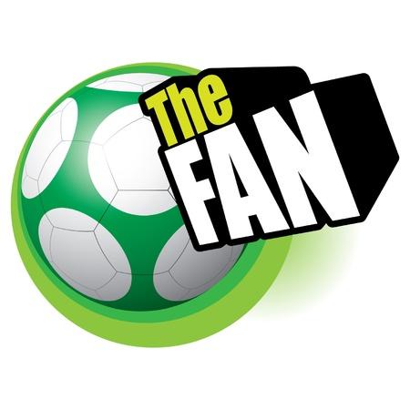 Soccer football the fan Stock Vector - 14017894