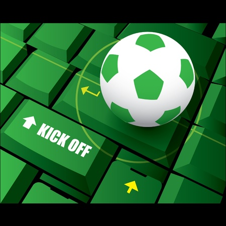 Soccer football kick off Vector