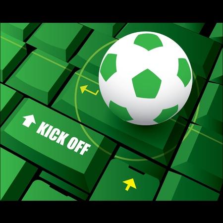 Soccer football kick off Stock Vector - 14017916