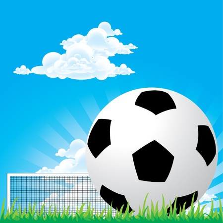 Soccer football penalty Vector