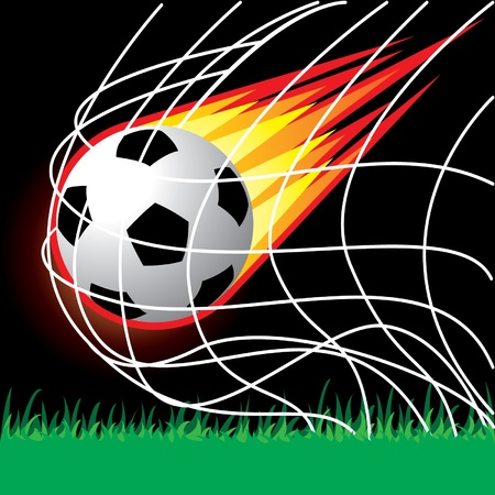 Soccer football penalty Stock Vector - 14017888