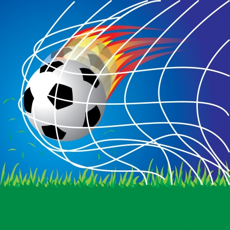 Soccer football penalty Stock Vector - 14017907